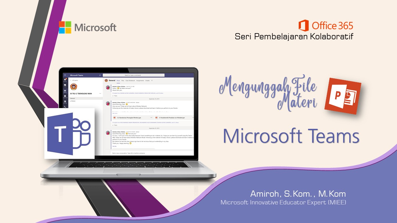 Office 365 Teams : Mengunggah Materi Berupa File PPT Di Teams